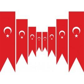 Türk Kırlangıç Flama (75x300 cm)